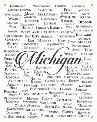 Michigan State Digital Art - Michigan by Finlay McNevin
