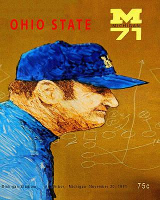 University Of Michigan Painting - Michigan Versus Ohio State 1971 Program by Big 88 Artworks