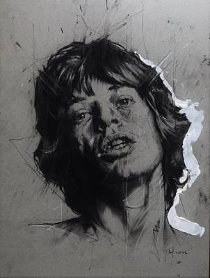 Keith Richards Drawing - 'mick' by Ief Peeters