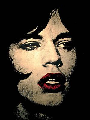 Rolling Stones Photograph - Mick Jaegger by Hans Wolfgang Muller Leg