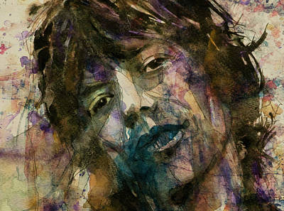 Rolling Stones Digital Art - Mick Jagger @ Gimmie Shelter  by Paul Lovering