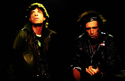 Keith Richards Mixed Media - Mick Jagger And Keith Richards 4e by Brian Reaves