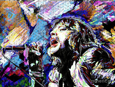 Mick Jagger Mixed Media - Mick Jagger Art by Ryan Rock Artist