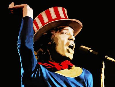 Uncle Sam Digital Art - Mick Jagger by Bill Cannon