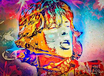Digital Art - Mick Jagger by Eleni Mac Synodinos