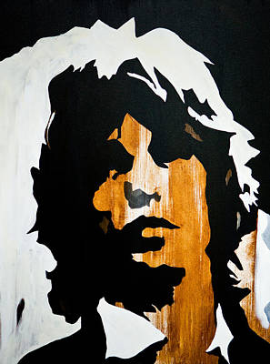 Mick Jagger Painting - Mick Jagger Get What You Want by Brad Jensen
