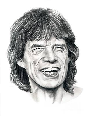 Mick Jagger Drawing - Mick Jagger by Murphy Elliott