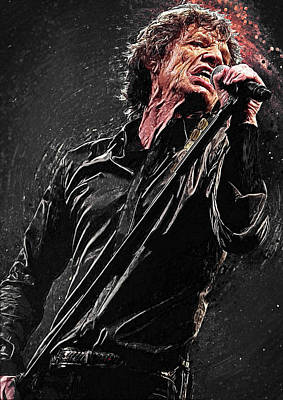 Mick Jagger Print by Taylan Soyturk