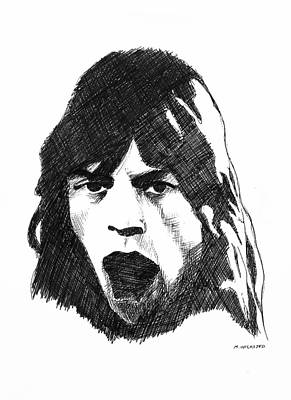 Mick Print by Michael Wicksted