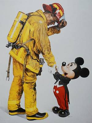 Mickey And The Bravest Print by Rob Hans