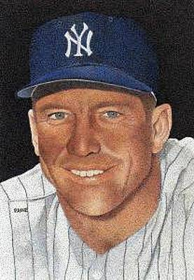Mickey Mantle Painting - Mickey Mantle by Rob Payne