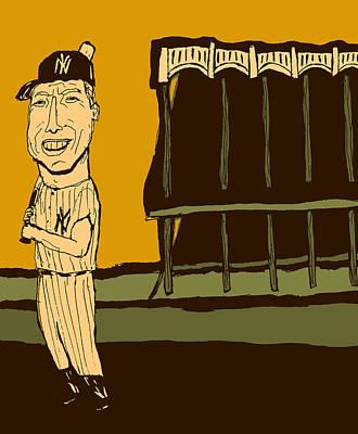 Yankee Stadium Painting - Mickey Mantle Yankee Stadium by Jay Perkins