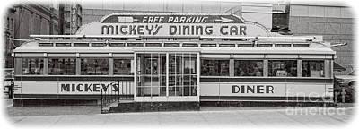 Mickey's Dining Car Print by Pd