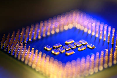 Integrated Photograph - Microprocessor Chip by Pasieka