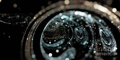 Digital Art - Microscopic IIi - Opale by Sandra Hoefer
