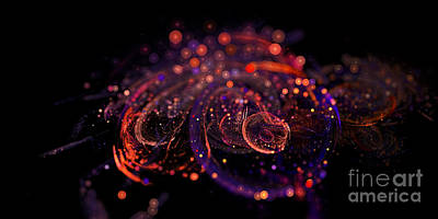 Digital Art - Microscopic Iv - Glass Jewels by Sandra Hoefer