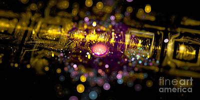 Digital Art - Microscopic Viii - It by Sandra Hoefer
