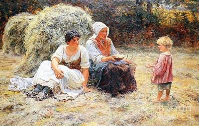Midday Rest Print by Frederick Morgan