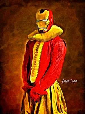 Suit Digital Art - Middle Ages Iron Man - Da by Leonardo Digenio
