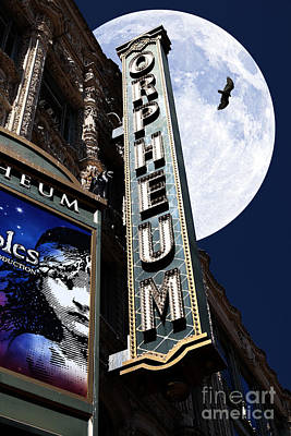 Midnight At The Orpheum - San Francisco California - 5d17991 Print by Wingsdomain Art and Photography