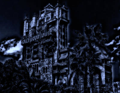 Surrealism Photograph - Midnight At The Tower Of Terror Mp by Thomas Woolworth