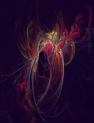 Impresionism Digital Art - Midnight Corsage by C G Rhine