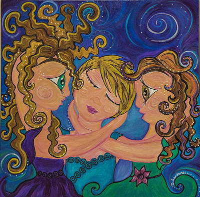 Mother Painting - Midnight Fairies by Dana Sardano