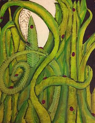 Tree With Eye Painting - Midnight In The Forest by William Douglas