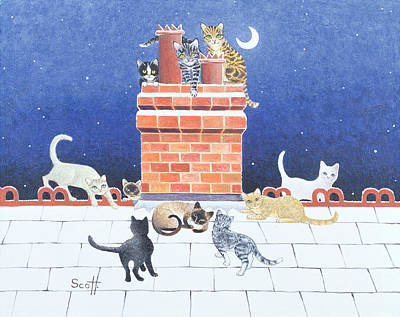 Chimney Drawing - Midnight Madness by Pat Scott