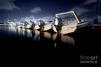 Midnight Motors Print by Mike Lindwasser Photography