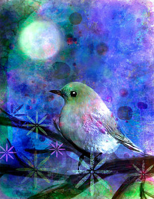 Moon Painting - Midnight Oasas by Robin Mead