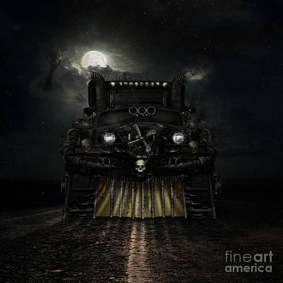 Moon Digital Art - Midnight Run by Shanina Conway
