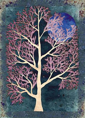 Embroidery Digital Art - Midnight by Sumit Mehndiratta