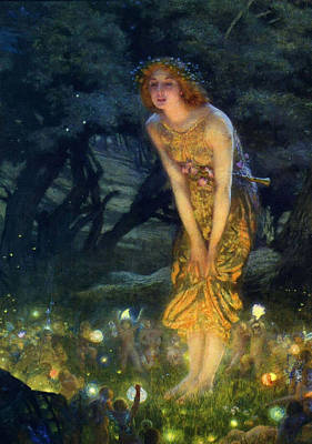 Midsummer Eve Print by Edward Robert Hughes