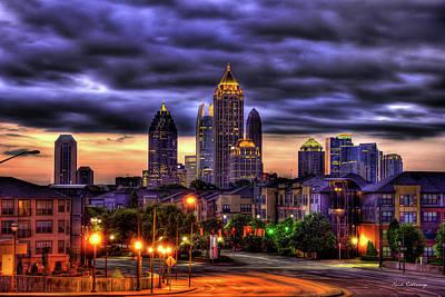 Midtown Atlanta Towers Over Atlantic Commons Print by Reid Callaway
