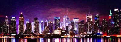 Midtown Manhattan Skyline Print by Lanjee Chee