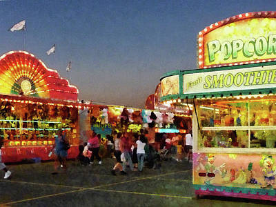 Fair Photograph - Midway by Susan Savad