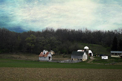 Shed Mixed Media - Midwest Country Living Textured 01 by Thomas Woolworth