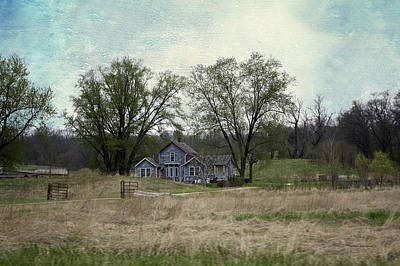 Shed Mixed Media - Midwest Country Living Textured 02 by Thomas Woolworth