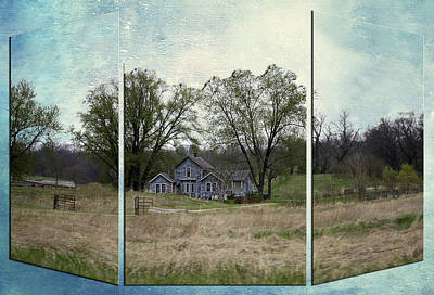 Shed Mixed Media - Midwest Country Living Triptych 3 Panel 04 by Thomas Woolworth