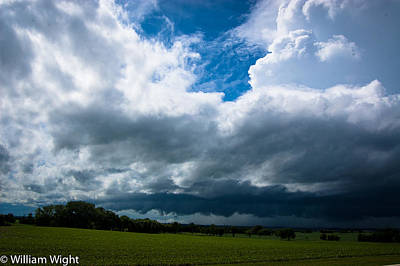 Squall Photograph - Midwest Squall Line by William Wight