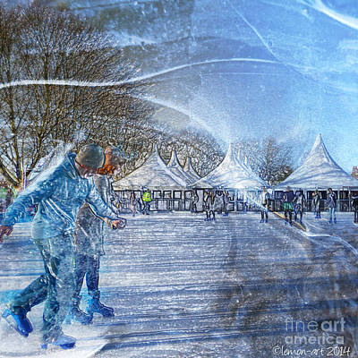 Midwinter Blues Print by LemonArt Photography