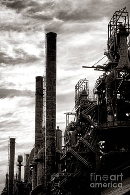 Mighty Bethlehem Steel Print by Olivier Le Queinec