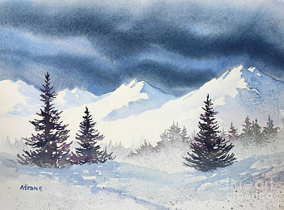 Mighty Mountains Print by Teresa Ascone