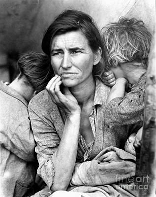Great Mother Photograph - Migrant Mother, 1936 by Granger