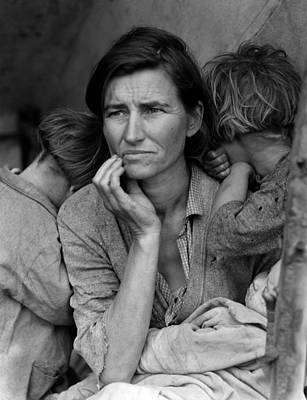 1930s Candid Photograph - Migrant Mother, Portrait Of Florence by Everett