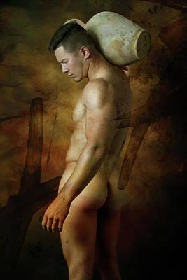 Nude Digital Art - Mike 5 by Mark Ashkenazi