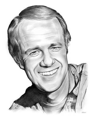 B Drawing - Mike Farrell by Greg Joens
