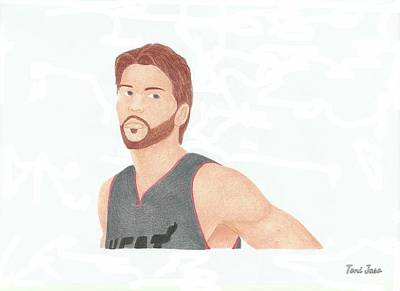 Miami Heat Drawing - Mike Miller by Toni Jaso