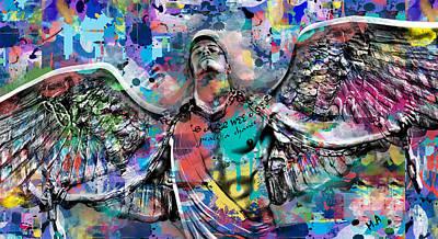 Mike Painting  Print by Mark Ashkenazi
